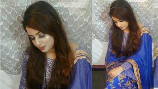 Blue Dress Indian Wedding Guest Makeup Tutorial