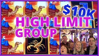 🎰💰 20 People ✖ $500 Each =💲10,000 HIGH LIMIT GROUP SLOT PULL👭👫👬 ✦ Slot Machines w Brian C #ad