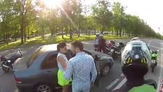 Нападение байкеров на машину с неожиданным концом!