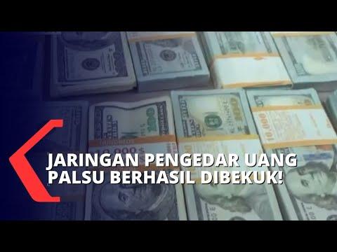 Polisi Ungkap Jaringan Pengedar Dollar Palsu, Barang Bukti Senilai 2,8 Triliun Rupiah!