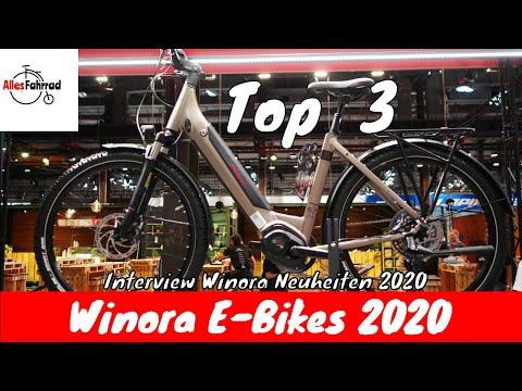 Top 3 Winora E-Bike Neuheiten 2020 - Interview - Yamaha und Bosch Trekking 2020 | Alles Fahrrad
