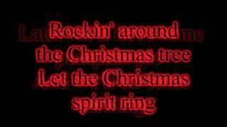 Miley Cyrus - Rockin' Around The Christmas Tree - 2010 Version - Lyrics on screen HD