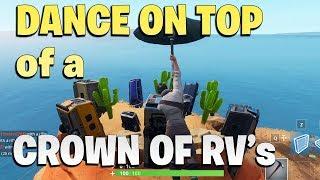Fortnite Season 7 Week One Dance On Top Of Crown Of Rvs Tickets