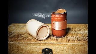 How To Make A Leather Cup- Tutorial And Pattern Download