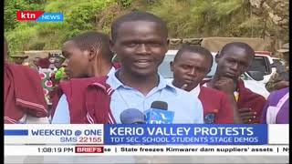 Kerio Valley students stage protests after Form 4 student was shot dead by suspected bandits