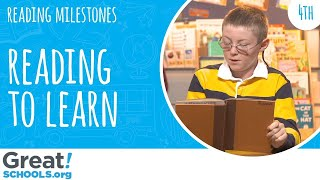 Is your 4th grader building knowledge from reading? - Milestones from GreatSchools