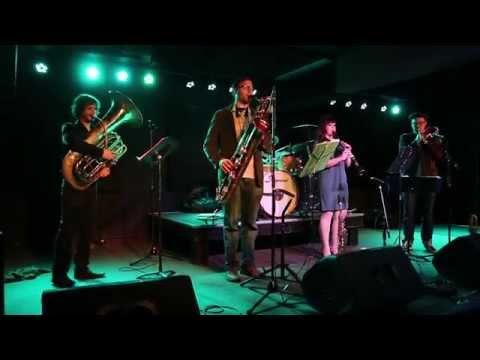 Performing an original composition on soprano trombone in Ithaca, NY with Bobby Spellman's Underground Society Band.