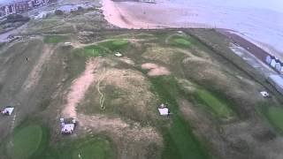 preview picture of video 'Lytham St Annes beach aerial video 2'