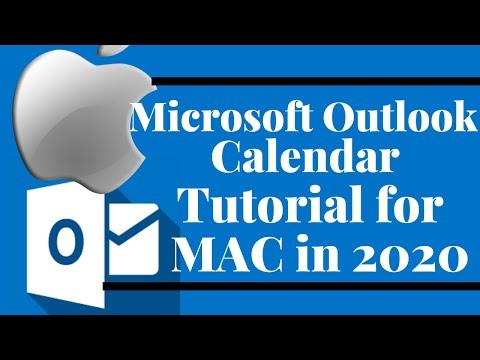 Microsoft Outlook Calendar Tutorial For MAC in 2020