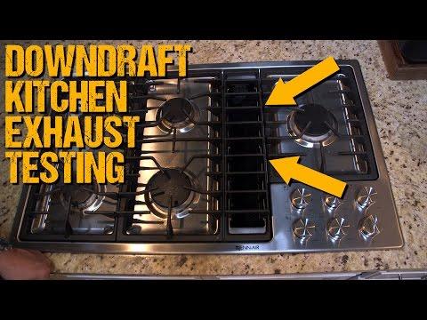 Testing Down-Draft Kitchen Exhaust Airflow