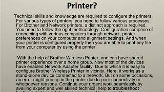 Steps for Brother Printer Installation