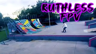 Featuring Fpv Pilots: Ruthless Fpv - Ripping skatepark with His Fpv Drone ???? Grinding rails!