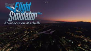 FLIGHT SIMULATOR 2020 // Atardecer en MARBELLA