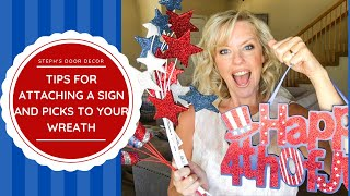 Wreath Tips - Attaching Signs and Picks / How to Create a Deco Mesh Wreath with WOW Factor