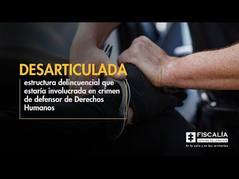 Fiscal Francisco Barbosa: Esclarecimiento de crimen de defensor de Derechos Humanos