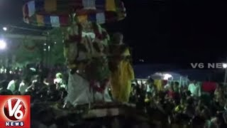 Devotees Throng Jadala Ramalingeswara Swamy Temple | Nalgonda | V6 News