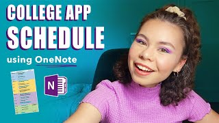 TIME MANAGEMENT FOR COLLEGE APPS - Using OneNote