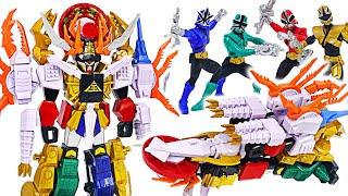 Power Rangers deluxe Megazord Super Samurai Gigazord transform! | DuDuPopTOY