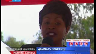 Wavinya Ndeti launches her manifesto as she makes the following promises