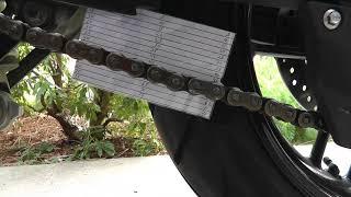 2016 Triumph Tiger 800 XRx Chain Slack Measurement Proceedure