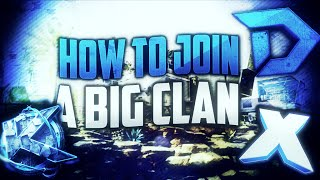 """HOW TO JOIN A CLAN! (How to join big clans) Ex. """"DooM Clan, KRNG, TapX, FaZe"""" 