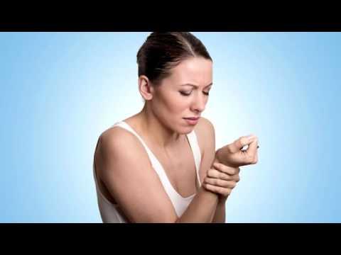 Geschwollenes Mittelgelenk des Fingers