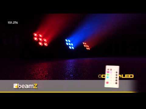BEAMZ LED FlatPAR 7x15W RGBAW IR, DMX Led reflektor