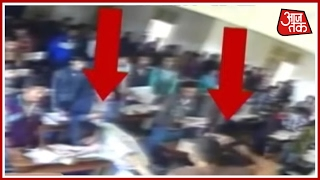 Gujarat Teacher Caught On Camera Brutally Beating Up Students