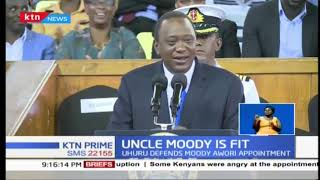 'Afadhali nikae na mzee achunge hiyo pesa': President Uhuru defends Moody Awori appointment