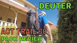 Deuter ACT Trail 30 / black-granite - відео 2