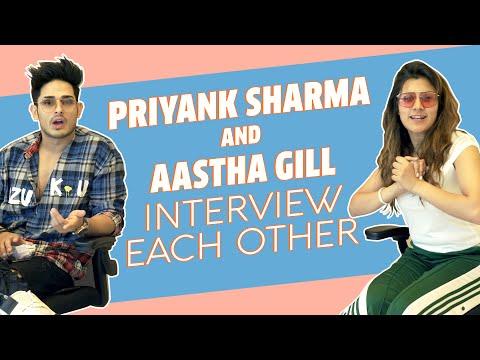 Priyank Sharma And Aastha Gill Interview Each Other   Buzz   Saara India   MissMalini