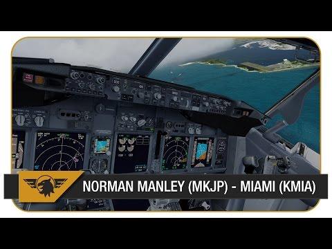 [Prepar3D] PMDG NGX | AAL1545 | Stormy Weather! | VATSIM | Norman Manley (MKJP) - Miami (KMIA)