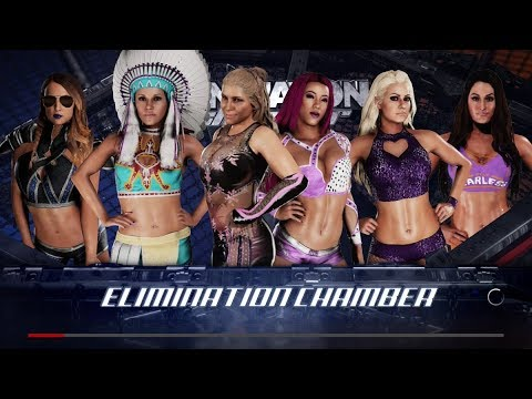 WWE 2K18 WOMENS ELIMINATION CHAMBER NIKKI VS EMMA VS NATALYA VS MARYSE VS MICKIE VS SASHA