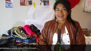 Video: Beautiful bags made of sheep wool. Nasa Indigenous Women