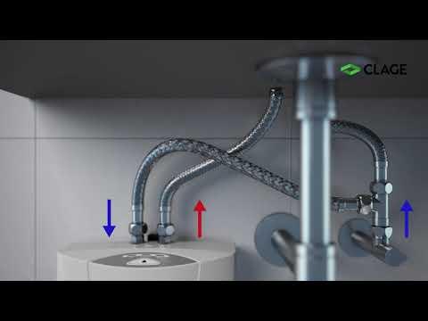 MCX - Calentador eléctrico instantáneo mini para lavabo - instalación