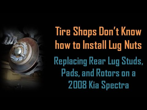 Kia Spectra - Rear Lug Studs, Rotors, and Pad Replacement