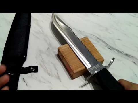 Unboxing & Review 4K: Amazon.ca Acute AC-JM-001L Jungle Master Hunting Knife (15-Inch)