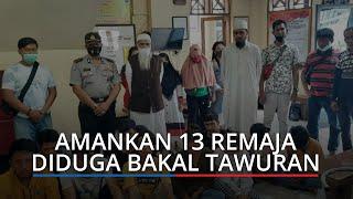 Polsek Padang Selatan Amankan 13 Remaja Diduga Bakal Tawuran, Datangkan Ustaz untuk Bertausiyah