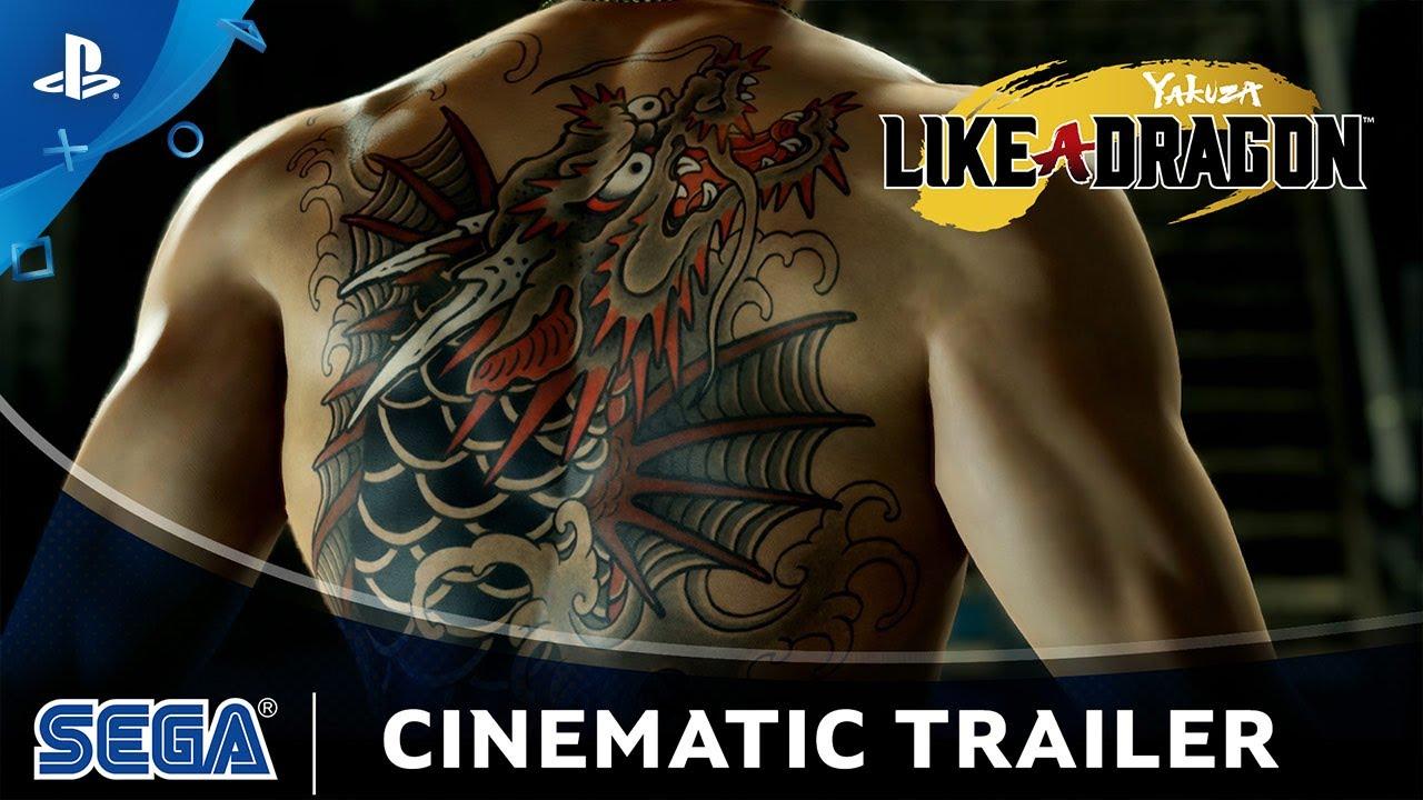Кинематографический трейлер ролевой игры Yakuza: Like a Dragon