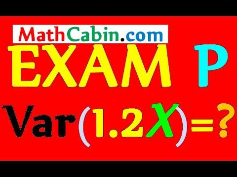 SOA Exam P Variance problem ! ! ! ! ! - YouTube
