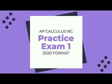 AP Calculus BC Practice Exam 1 - 2020 - YouTube