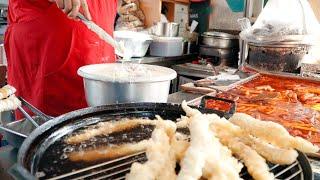 Tteokbokki & Assorted Fries ∥ Popular Snacks in Korea∥Seoul Korean Street Food