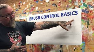 Brush Control & Sign Painting - Basics of the Basics for the Novice - Left Handed Lettering
