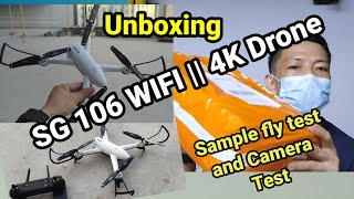 Unboxing SG 106 WIFI / FPV 1080 Drone with Sample flight test and Camera Test.