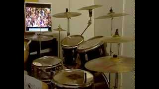 THE DANDY WARHOLS -Fast Driving Rave Up-in concert reading-drum cover