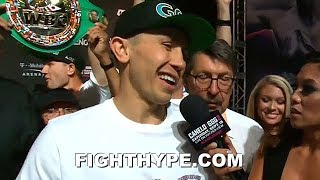 GOLOVKIN'S FINAL WORDS FOR CANELO SECONDS AFTER SCUFFLE AT WEIGH-IN:
