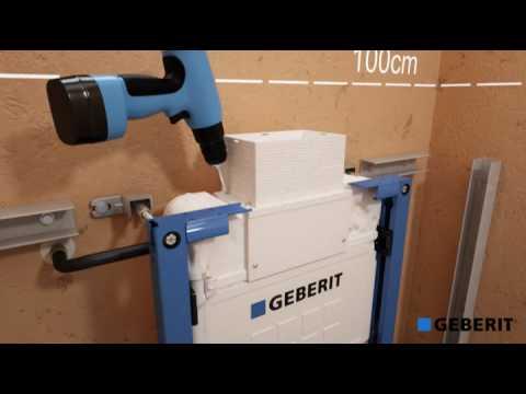 Scheffer Badkamers presenteert u de installatie van een Geberit Duofix WC element van 82 cm hoog.