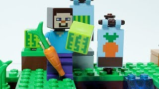 Lego Minecraft Steve Brick Building Small Farm