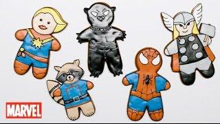 Marvel Gingerbread Cookies!