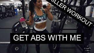 TRAIN ABS WITH ME - KILLER WORKOUT (FULL PROGRAM) ♡ Follow me to the gym ♡